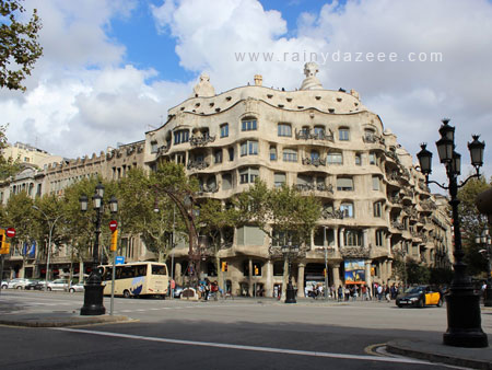 Casa Mila by Antoni Gaudi in Barcelona, Spain