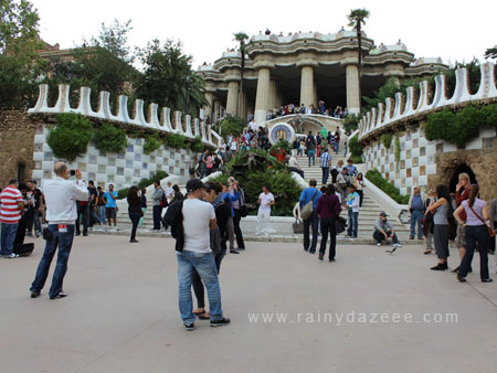 Park Guell by Antoni Gaudi in Barcelona, Spain