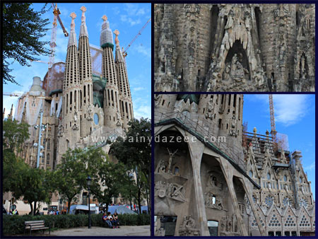 Sagrada Familia by Antoni Gaudi in Barcelona, Spain