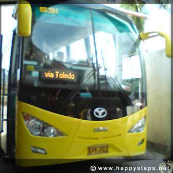 Ceres aircon bus bound for Bacolod via Toledo at the Cebu North Terminal
