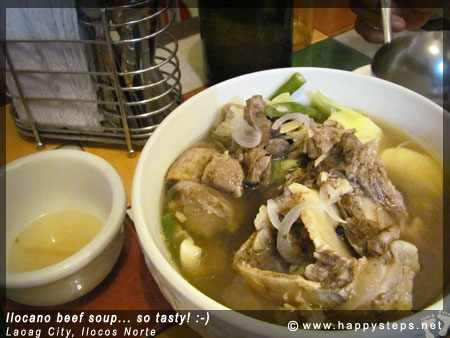 Ilocano food - beef soup