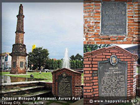 Tobacco Monopoly Monument, Aurora Park, Laoag City, Ilocos Norte